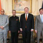 இந்தியா- அமெரிக்கா இடையேயான 2+2 குறித்து ஒப்பந்த பேச்சுவார்த்தை !